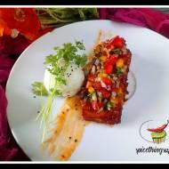Salmon in honey and ketchup marinade
