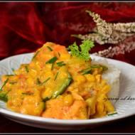 Curry rybne z groszkiem cukrowym