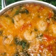Piątek: Śródziemnomorska zupa pomidorowa z ryżem