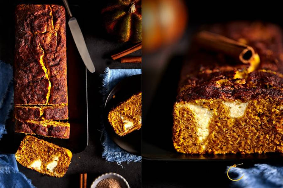 Ciasto dyniowe z serkiem twarogowym (z płatkami owsianymi)