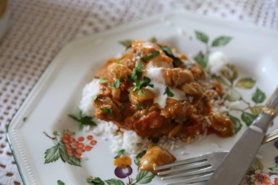 Kurczak balti, czyli indyjskie danie.