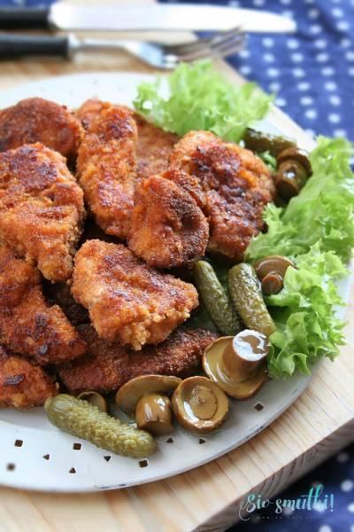 Pikantne nuggetsy z kurczaka (z patelni)