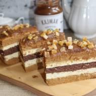 Ciasto krówka z kakaowym wnętrzem