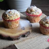 Muffiny na kefirze z jabłkiem i żurawiną