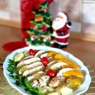 Pierś z kurczaka z owocami w aromatycznej galaretce