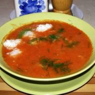 z pomidorów zupa na maśle i śmietanie...