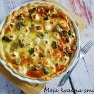 Tarta z brokułami  i serem feta