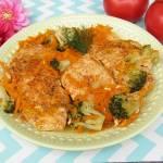 Kruchy filet z kurczaka duszony z warzywami