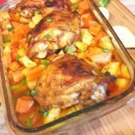 Kurczak na jarzynach z rozmarynem
