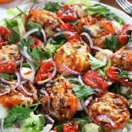 Sałatka z pieczonymi pomidorami