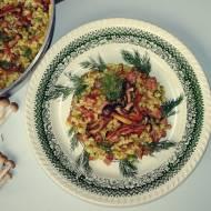 Risotto z nutą azjatycką, grzybami shimeji i wołowiną