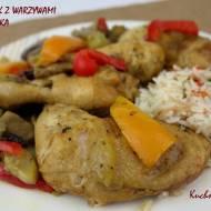 Soczysty kurczak z warzywami  z piekarnika