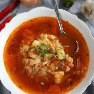 Pikantna zupa z białej kapusty