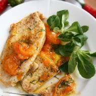 Sznycle z indyka z czosnkiem i pomidorami (danie w 15 minut)