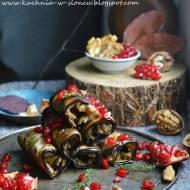Badridżani - gruzińskie roladki z bakłażana z pastą orzechową