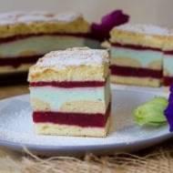 Ciasto biszkoptowe z musem śliwkowym