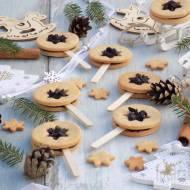 Świąteczne ciasteczkowe lizaki