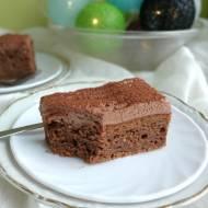 Ciasto czekoladowo-jabłkowe.