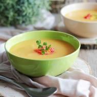 Kremowa zupa dyniowa z ziemniakami - pikantna, aksamitna, pyszna