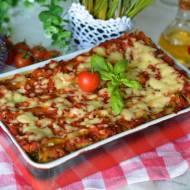 Szpinakowe cannelloni z kurczakiem w sosie pomidorowym