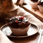 Muffiny z malinami i piernikami