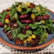 Azerbejdżan - Sałatka z czerwoną fasolą i ziołami (Qırmızı lobyalı salat)