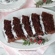 delikatne ciasto czekoladowo kokosowe na białkach