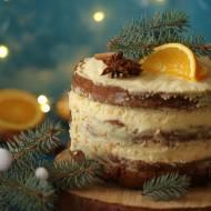 Tort piernikowy z pomarańczowym kremem