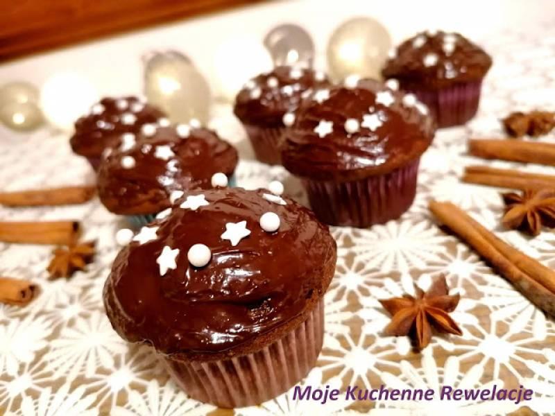 Piernikowe babeczki czekoladowe