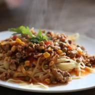 Przepyszne spaghetti a la chili con carne