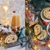 Rolada biszkoptowa na Święta Bożego Narodzenia.