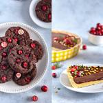 Świąteczne ciasteczka z żurawiną i tarta piernikowa- z mąk Lubella