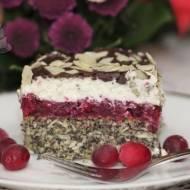 Ciasto Makowa Panienka z Żurawiną