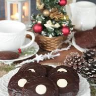 ekspresowe miękkie pierniczki orzechowe w polewie czekoladowej