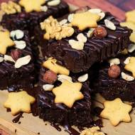 Wegańskie brownie proteinowe (bez glutenu, cukru białego, laktozy, wegańskie)