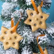 Pierniczki - gwiazdki na choinkę