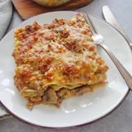 Lasagne z sosem mięsno-grzybowym (Lasagne bianche con funghi e carne)
