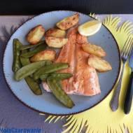 Fish & chips z kombiwaru - ryba z pieczonymi ziemniakami
