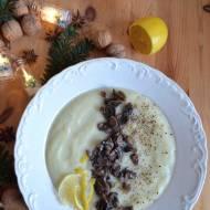 Lekko cytrynowa zupa krem na bazie kalafiora