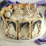 Tort makowo orzechowy choinka bezglutenowy