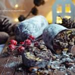 Czekoladowe salami - czekolada w świątecznej odsłonie