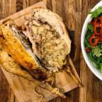 Świąteczny obiad: Kurczak faszerowany chlebem