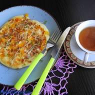 Omlet z papryką i płatkami orkiszowymi