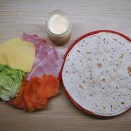 Roladki z tortilli