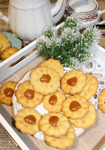 Ciasteczka kwiatuszki z kajmakiem