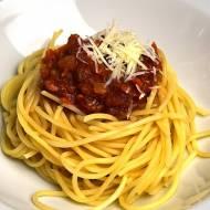Spaghetti a'la bolognese (bezmięsne)