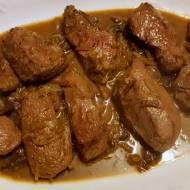 Steki z polędwicy w sosie grzybowym - steki z polędwicy z jelenia