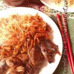 Chińskie danie z marynowaną piersią z kaczki