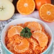 surówka z marchewki i mandarynek