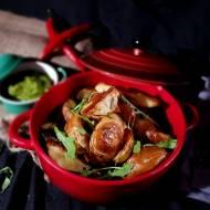 Pikantne ziemniaczane kliny plus pesto z orzecha włoskiego i rukoli